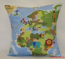 "2 x modern Cushion covers,""World"" 100% cotton,16""x16"""