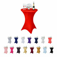 "24""-36"" Cocktail Spandex Table Cover For Wedding Party Banquet Events Decoration"