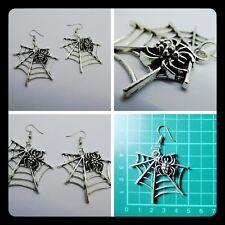 Cobweb Spider Earrings,Halloween,Scary,BoHo,Unique,Spider,Drop,Pierced,Gift Idea
