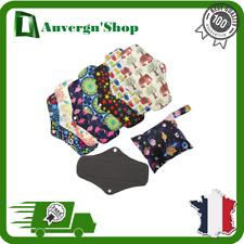 Serviettes Hygiénique Bambou Réutilisable Lavable Machine Protege Slip Culotte