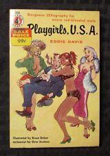 1956 Playgirls U.S.A by Eddie Davis & Bruce Dolan Pyramid 205 Paperback Fn+