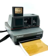 Polaroid Impulse Portrait Camera, Using 600 Film camera - Black/Grey - Working