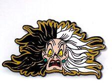 Disney Pin✿Cruella De Vil Villain Crazy Hair Head Face Scary Evil Puppy Dog Mean