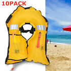 10PACK Inflatable Life Jacket Adult Water Swimming Fishing Survival Life Vest