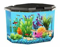 Koller Products 6.5-Gallon Aquarium Kit with Power Filter and LED Lighting
