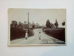 Real photo postcard. Church Road, Warsash, near Fareham, Hampshire.
