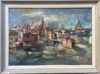 Expressionist Sandro Lorsch 1919 1992 Hamburg - City View - Kokoschka Paris