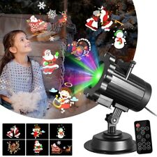 6 Pattern Motion Christmas Landscape Lights Projector LED Spotlight Waterproof