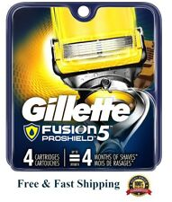 4 Gillette Proshield Fusion Flexball Razor Cartridges Flex Ball Shaver Blades