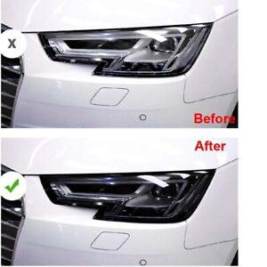 Car Smoke Black TPU Headlight Protect Film Sticker Fit For Audi A4 2017-2019
