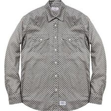 SUPREME Levis Western Shirt Grey XL Box Logo 2012 safari camp cap camels F/W 12