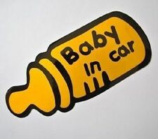 1 x car sticker baby in car bottle reflective auto decals seat pram chair gift