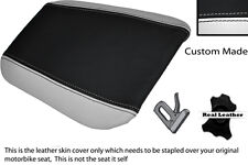 Blanco & Negro Custom encaja Cagiva Mito 125 95-07 trasera cubierta de asiento
