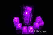 12 Pack LiteCubes Brand PINK LED Light up Ice Cubes