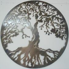"Tree of Life Metal Art, 23.5"",  Antique Look, Wall Decor"