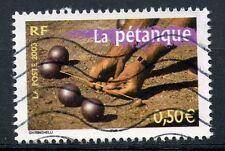 TIMBRE FRANCE OBLITERE N° 3564 LA PETANQUE / PHOTO NON CONTRACTUELLE