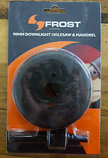 Frost 90mm Holesaw & Mandrel Kit Downlight Installation Hole Saw