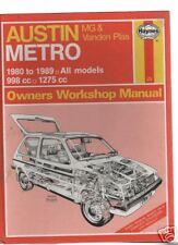 Haynes.AUSTIN METRO MG & VANDEN PLAS.1980-89.All Models.Last Of Stock!