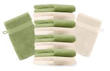 Betz Set di 10 guanti da bagno Premium misure 16 x 21 cm 100% cotone beige e ver
