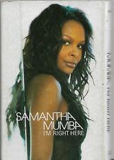 Samantha Mumba ‎I'm Right Here CASSETTE SINGLE Electronic Europop House RnB/Swin