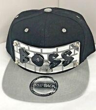 Personalized Custom Snapback Hat Six Panel Flat Bill Snap Back Hat Cap BOSS Hat