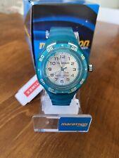 Timex Marathon Silver Dial Resin Strap Ladies / Girls Watch - Turquoise