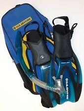 US Divers Proflex Fins & Carry Bag Set Child Size S/M US 1-3 Eur 32-35 Kid Youth