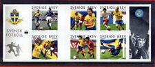 Sweden 2004 Soccer in Complete Booklet of Six Self-Adhesive Stamps MNH