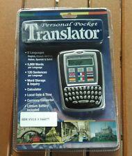 Personal Pocket Translator Tech Tools 6 Languages English German Spanish Dutch