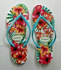 Havaianas Womens Size 9/10 EUR 41/42 Hawaiian Floral Flip Flop Thong Sandals
