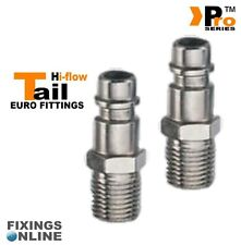 2 x 1/4''Euro Tail ( Hi Flow ) Male - Quick Release - Air Line Fittings     01