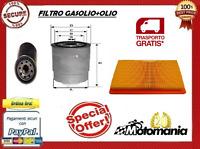 KIT TAGLIANDO 3 FILTRI + 4 OLIO  PIAGGIO PORTER 1400 1200 DIESEL