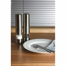 Salter Electronic Salt Pepper Mill - Stainless Steel Battery Operated 7502 (2x)