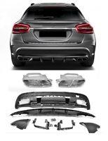 Für Mercedes Benz Heckeinsatz Diffusor Stoßstange GLA X156 GLA45 Look AMG #01