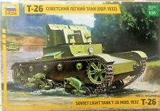 1/35 T-26 Soviet Russian light tank Mod. 1932 ~~ Zvezda 3542