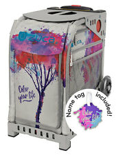 ZUCA Bag COLOR YOUR LIFE Insert & Gray Frame w/Flashing Wheels - FREE CUSHION