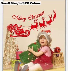 60cm /125cm Santa Claus Merry Christmas Reindeer Shop Window Wall Art Stickers