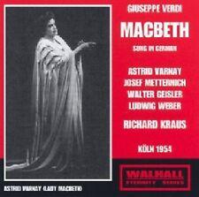 Verdi: Macbeth (Köln 1954) RICHARD KRAUS Astrid Varnay Josef Metternich 2CD Neu