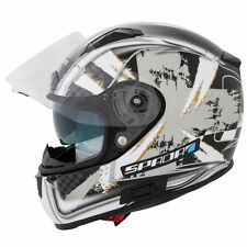 Graphic Spada Helmets with Integrated Sun Visor