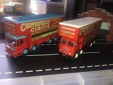 Corgi 1.50 Job Lot Circus Foden And Aec 8 Wheel Trucks Lorrys Showman