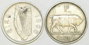 1951 to 1968 Ireland Cupro Nickel Shilling Your Choice of Date / Year