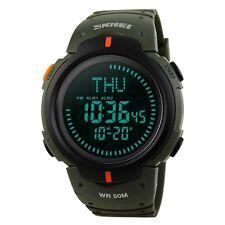 Mens Watch Sports Digital Survival Compass 50M Waterproof Birthday Gift Green