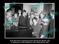 OLD 8x6 HISTORICAL PHOTO OF THE BEATLES 1964 AUSTRALIAN TOUR PAUL McCARTNEY
