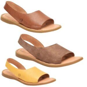 """AS IS"" Born® Inlet Slip-On Slingback Leather Sandal (694969-K)"