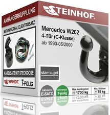 Anhängerkupplung starr Für Mercedes-BENZ W202 4-Tür 93-00 + E-SATZ 7 polig