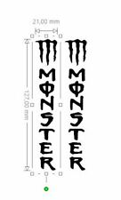 2 STICKERS MONSTER   21X127MM CHACUN