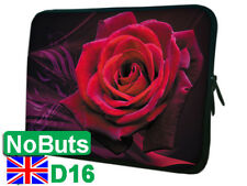 "D16 Red Rose flower 10"", 10.1"", 10.2"" Ipad tablet Notebook Sleeve Soft Case UK"