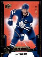 2019-20 Credentials Red Parallel #30 John Tavares /199 - Toronto Maple Leafs