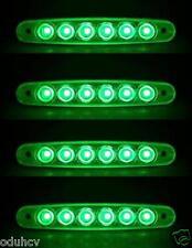 4x Struttura Laterale Indicatore 6 LED Verde 24V Luci CAMION TELAIO PER CARAVAN