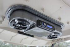 Golf Cart Carbon Fiber Radio Console, Universal (Radio Not Included)